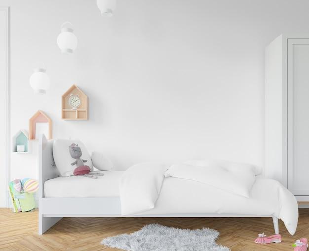Slaapkamer met witte lakens Gratis Psd