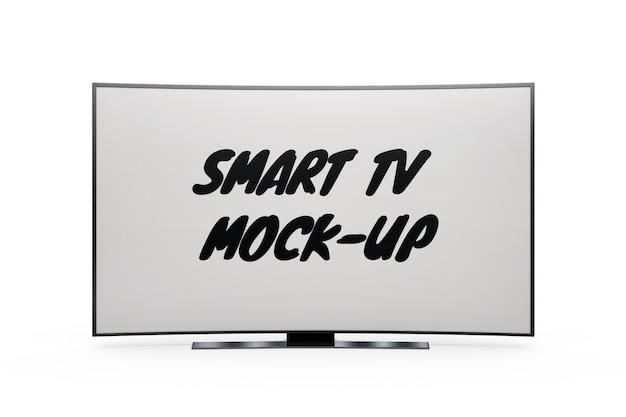 Slimme tv-mock-up geïsoleerd Gratis Psd