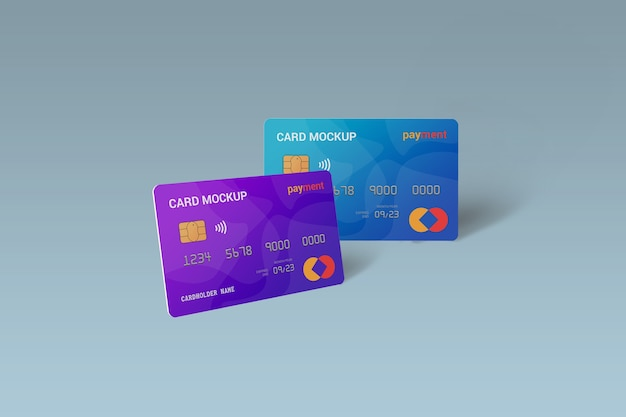 Sluit omhoog op geïsoleerd smart card-modelontwerp Premium Psd