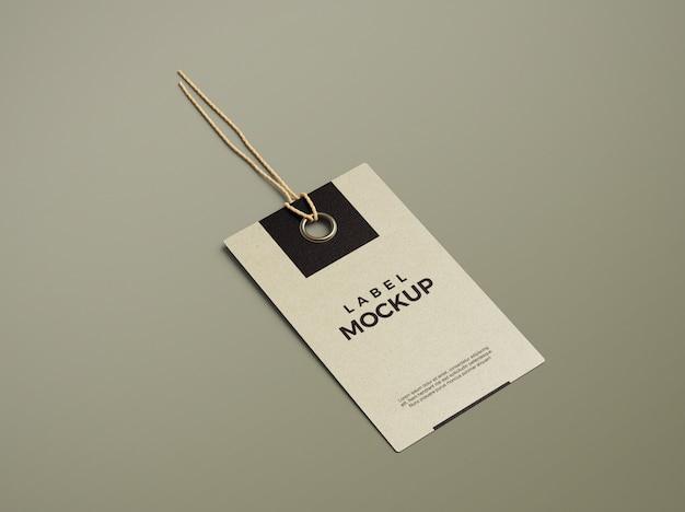 Sluit omhoog op schoon en elegant model van het etiketlabel Premium Psd