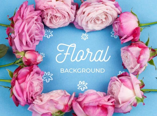 Sluit omhoog roze rozen die model ontwerpen Gratis Psd