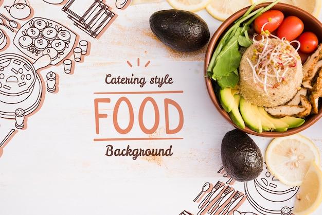 Smakelijke restaurant menuachtergrond met kopie ruimte Gratis Psd
