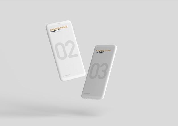 Smartphone mockup Psd Premium
