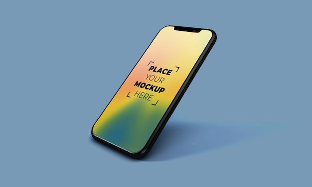 Smartphone-model op volledig scherm Gratis Psd
