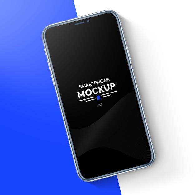 Smartphone realista maqueta PSD Premium