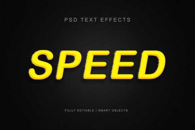 Snelheid teksteffect Premium Psd