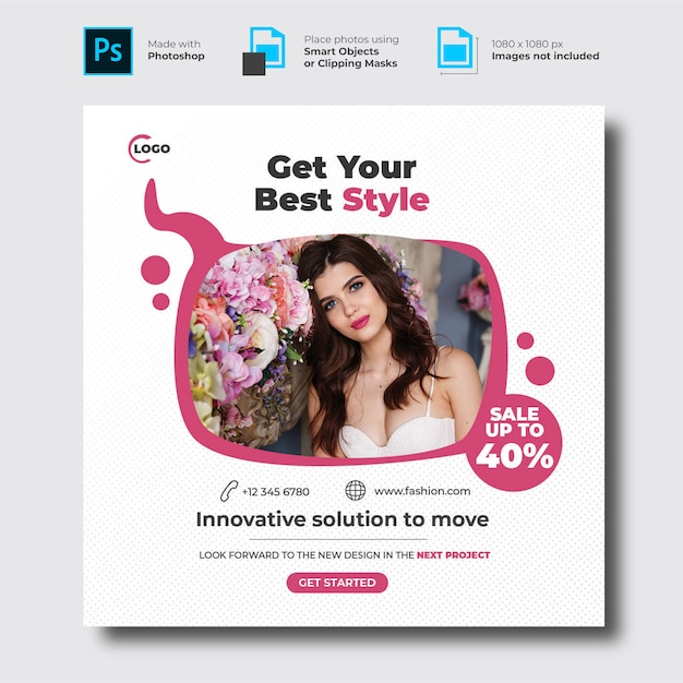 Social media banner sjabloon mode Premium Psd