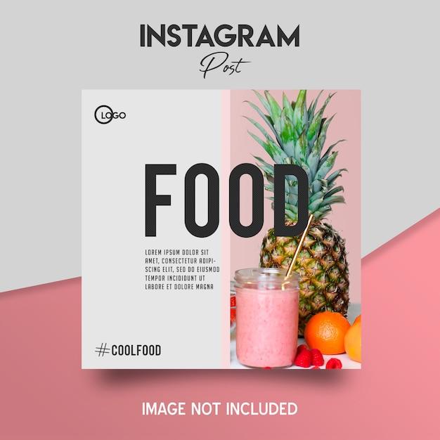 Social media instagram-bericht Premium Psd