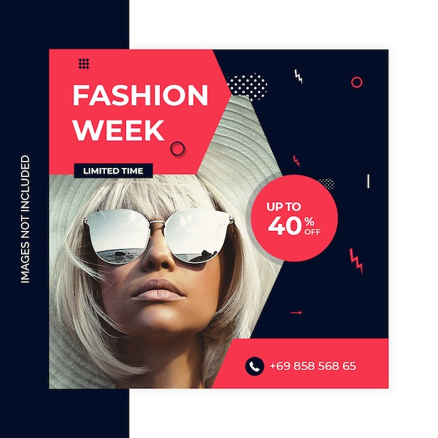 Social media marketing shopping post ontwerp Premium Psd