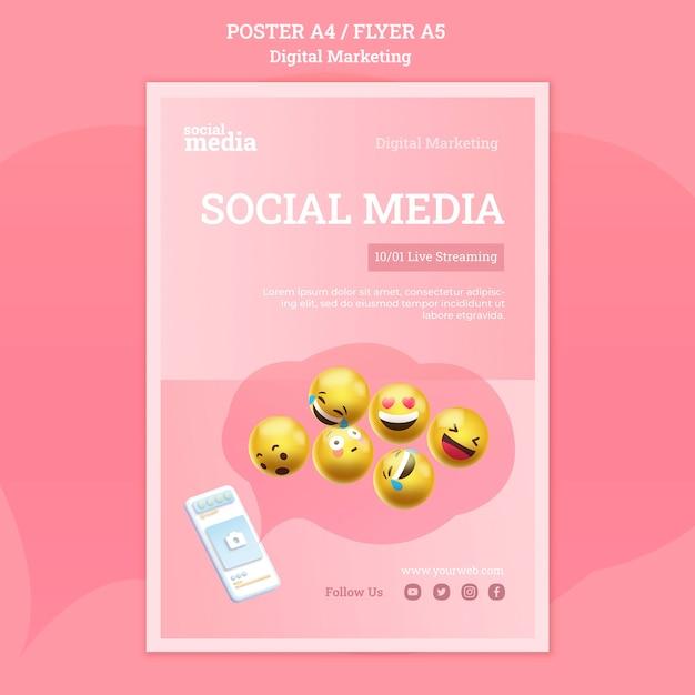 Social media poster sjabloon Gratis Psd