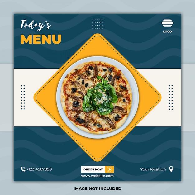 Social media postsjablonen voor voedselbanners Premium Psd