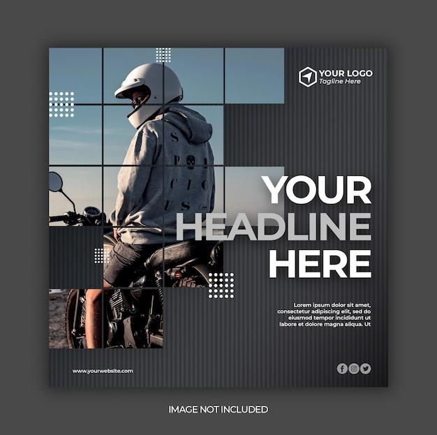 Social media postsjabloon of vierkante flyer Premium Psd