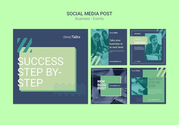 Social media postsjabloon voor bedrijfsevenement Gratis Psd