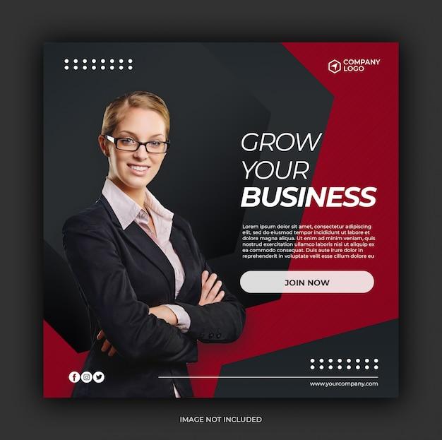 Social media postsjabloon voor digitale marketing Premium Psd