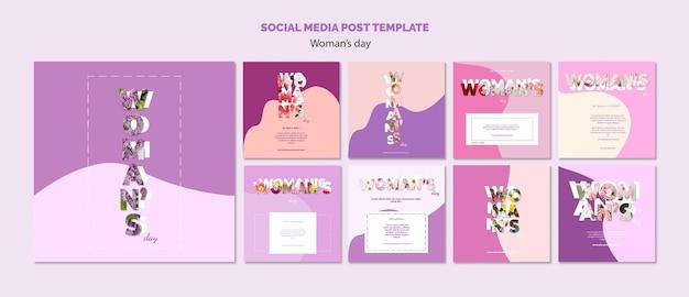 Social media postsjabloon Gratis Psd