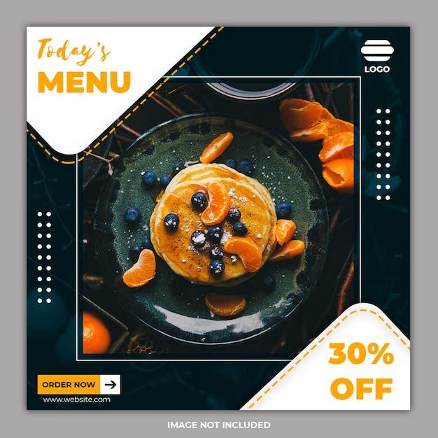 Social media-sjablonen voor voedselbanners Premium Psd