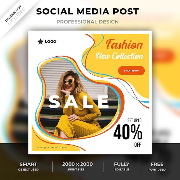 Social media strepen mode na Premium Psd