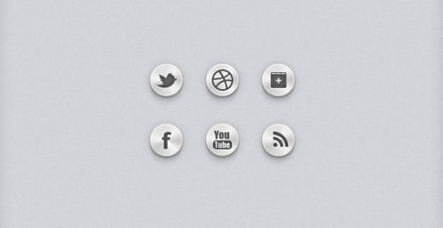 Sociale knoppen sociale pictogrammen sociale ui Gratis Psd