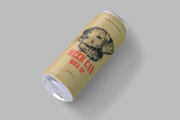 Soda o beer can mockup Psd Premium
