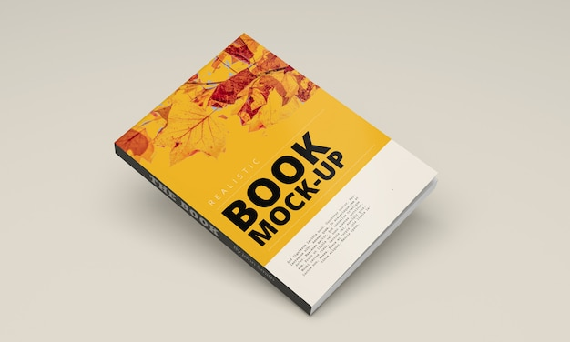 Softcover book mock up Psd Premium