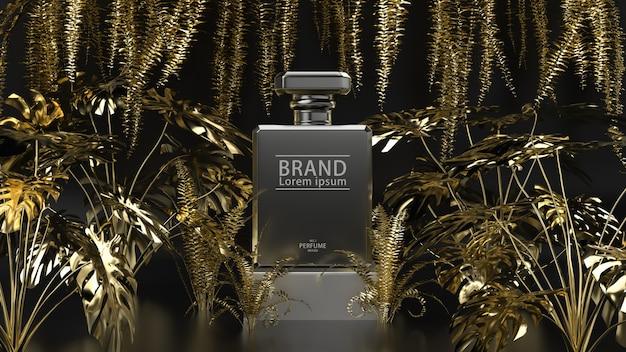 Soporte de producto negro y dorado PSD Premium