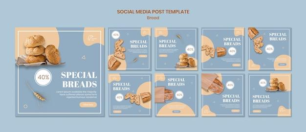 Speciaal brood social media postsjabloon Gratis Psd