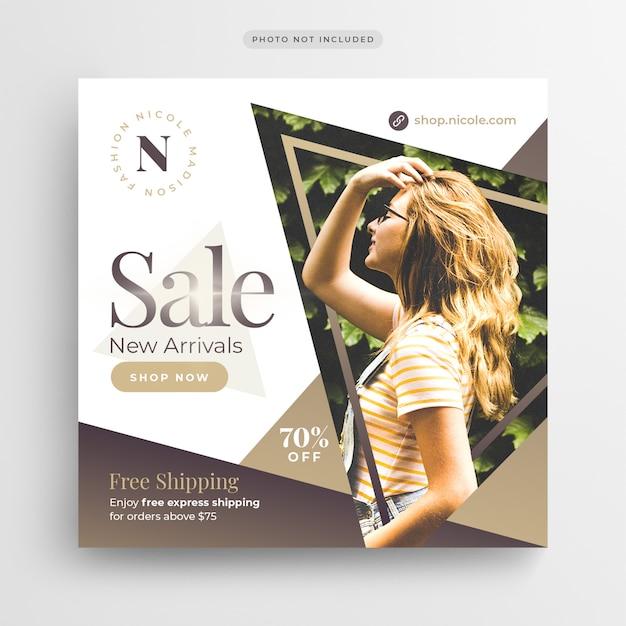 Speciale aanbieding verkoop sociale media banner of vierkante flyer-sjabloon Premium Psd