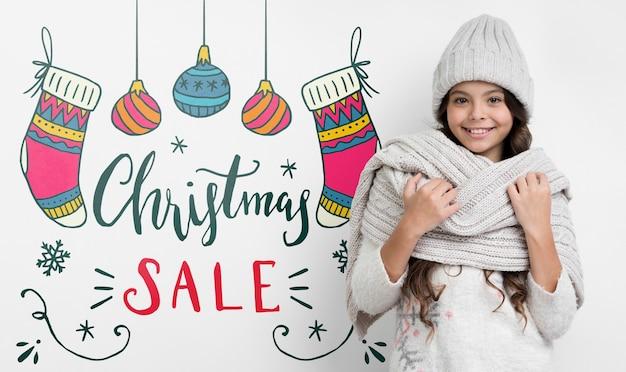 Speciale aanbiedingen beschikbaar op kersttijd Gratis Psd