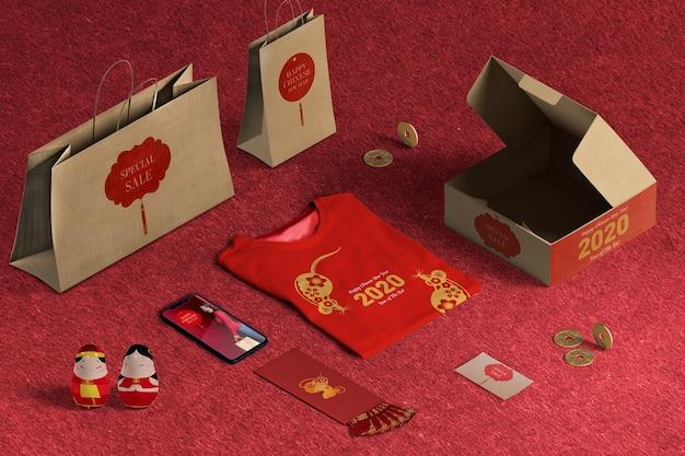 Speciale cadeauverkoop met hoog cadeaupapier en dozen Gratis Psd