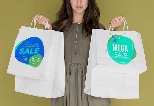 Speciale kortingen voor vrouwen die winkelen Gratis Psd