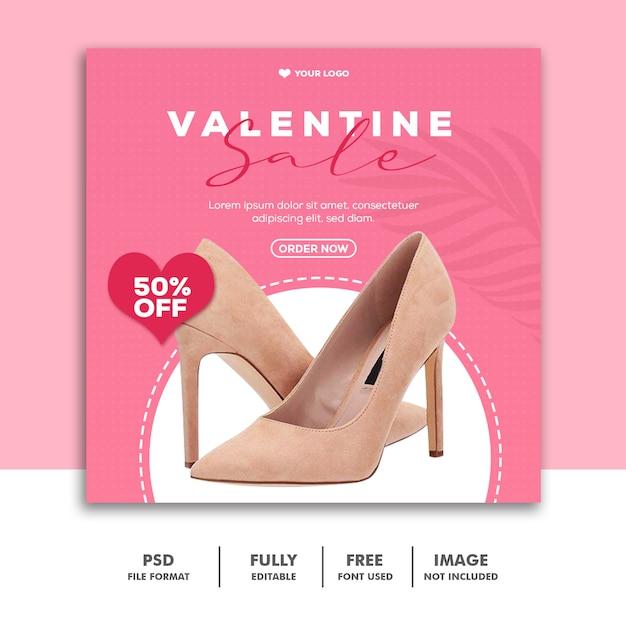 Speciale vendita di san valentino per social media Psd Premium