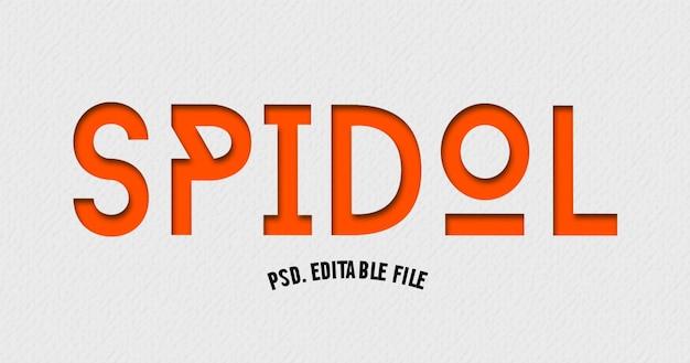 Spidol-lettertype in moderne tekst Premium Psd
