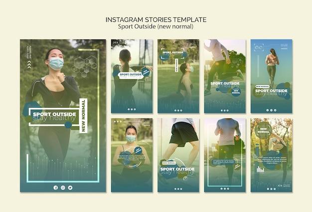 Sport al di fuori delle storie di instagram Psd Gratuite