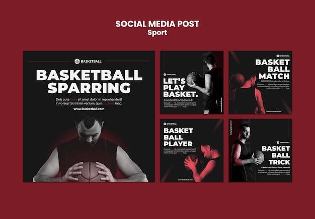 Sport concept sociale media post sjabloon Gratis Psd