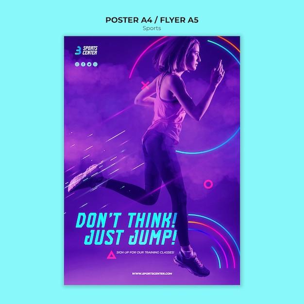 Sport poster sjabloon Gratis Psd