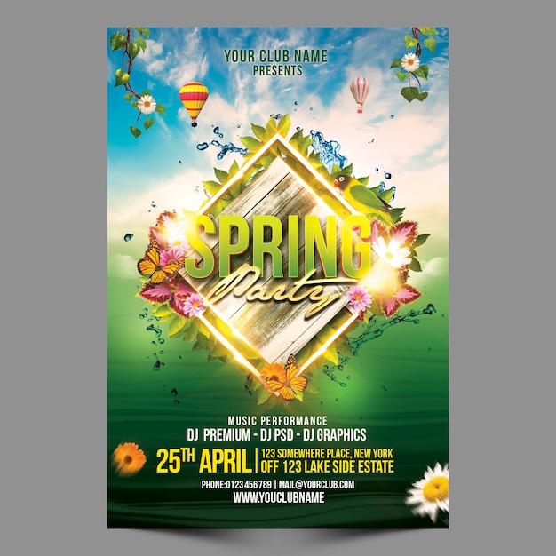 Spring party premium Premium Psd