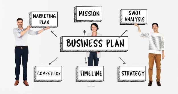 Squadra varia con un business plan Psd Premium