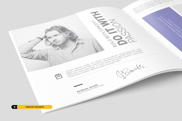 Square brochure mockup Psd Premium