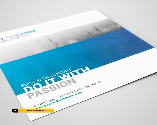 Square flyer mockup Psd Premium