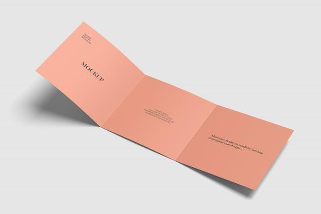 Square trifold brochure mockup Premium Psd