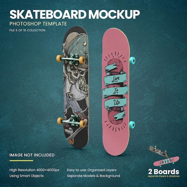 Staand skateboards mockup Premium Psd