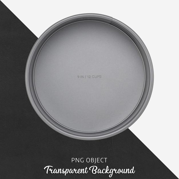 Stampo per torta grigio tondo trasparente Psd Premium