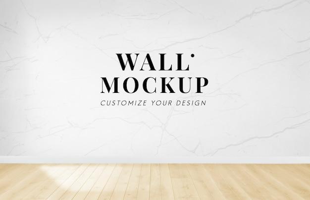 Stanza vuota con un mockup di muro bianco Psd Gratuite