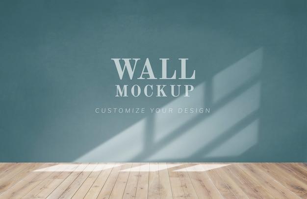 Stanza vuota con un mockup di muro verde Psd Gratuite