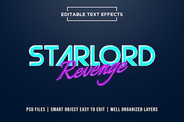 Starlord revenge text effects PSD Premium
