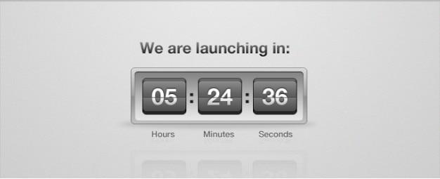 Start countdown clock flip psd Gratis Psd