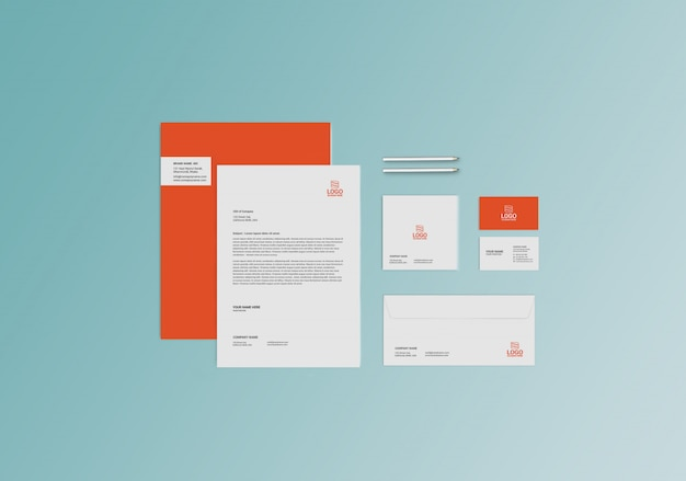 Stationaire mock-up sjabloon Premium Psd