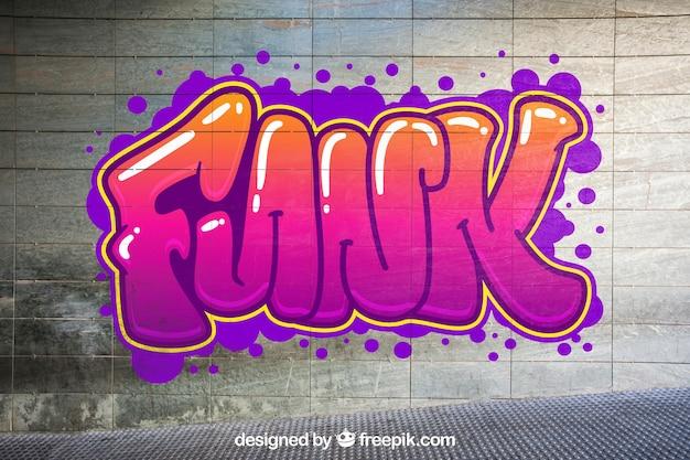 Stedelijke graffiti mockup Gratis Psd
