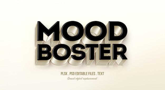 Stemmingsverbeteraar 3d-tekststijleffect mockup Premium Psd