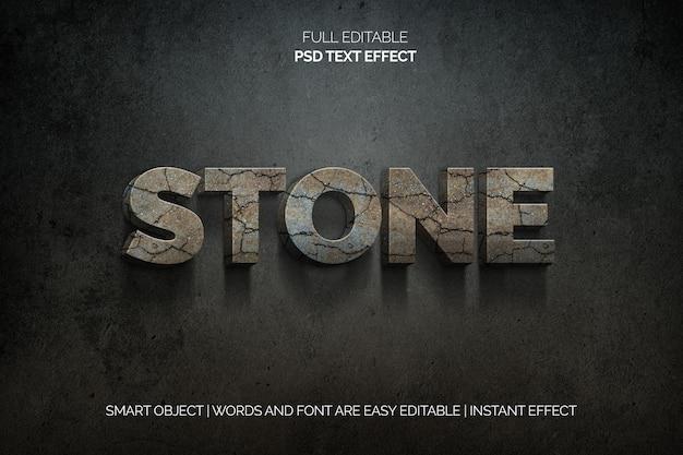 Stenen teksteffect Gratis Psd